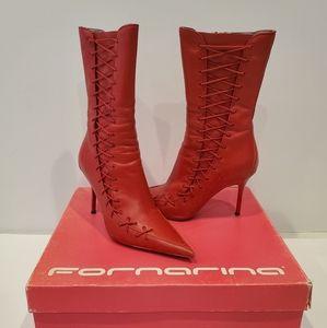 FORNARINA  Vermillon Calf Boots
